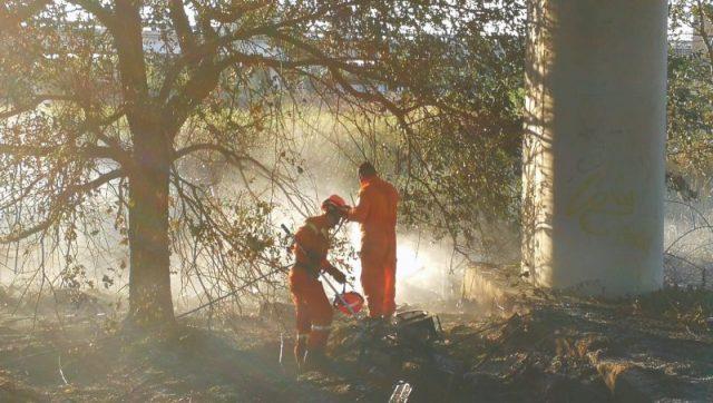 vasto incendio lungo superstrada FIPILI