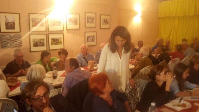 Bonafè alla cena Circolo Arci Salviano