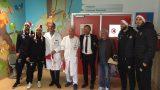 il Livorno in visita a pediatria
