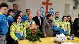 volontari delle misericordie in volo da papa