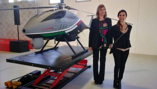 Leonardo ed elicottero AWHERO a pilotaggio remoto