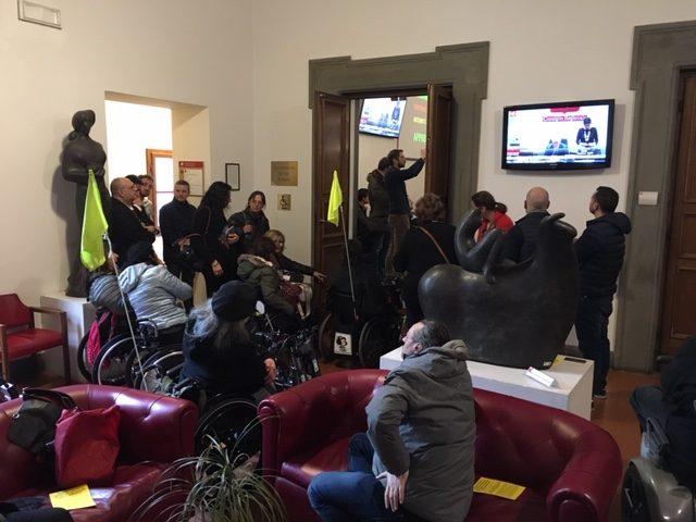 disabili protestano in consiglio regionale_26feb2019
