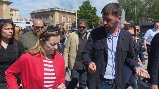 Giorgia Maloni con Andrea Romiti