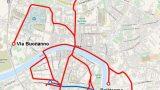 città ecologica: proposta mappa tracciato tramviario