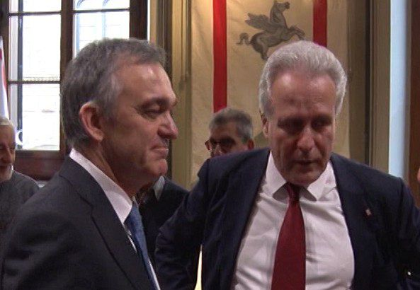 Eugenio Giani con Enrico Rossi