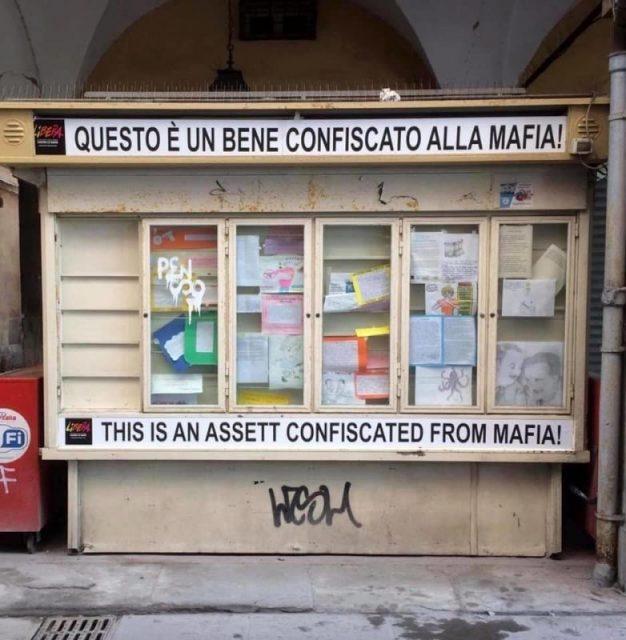 edicola confiscata alla mafia a Pisa