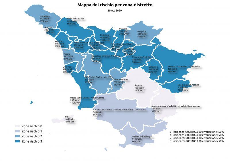 Qual E La Mappa Del Rischio Contagio In Toscana Oggi Situazione Critica