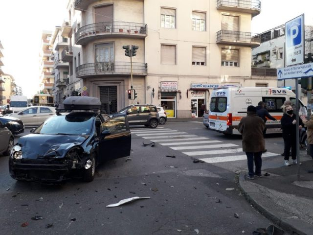 Incrocio con incidente