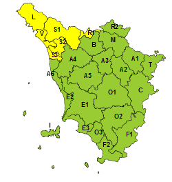 temporali forti in Toscana
